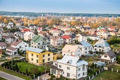 Lithuania city. Nemencine from above Royalty Free Stock Photography
