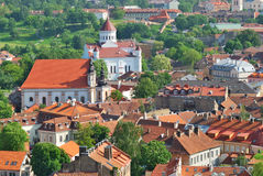 Lithuania. City of Vilnius. The Orthodox Church. Of the Holy Mother of God and historic site coverage. View from the tower Stock Photos