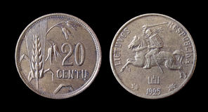 Lithuania coins. Of 20 century begennings Stock Photography