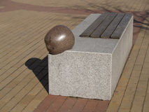 Lithuania. Decorative bench in Klaipeda Stock Images