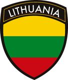 Lithuania flag Royalty Free Stock Photography