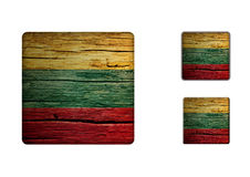Lithuania Flag Buttons Stock Images