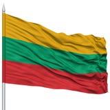 Lithuania Flag on Flagpole Stock Photography