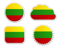 Lithuania flag labels Stock Photo
