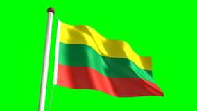 Lithuania flag Stock Images