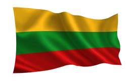 Lithuania flag, A series of `Flags of the world.`   The country - Lithuania. Lithuania flag,  A series of `Flags of the world.`  The country - Lithuania Stock Photo