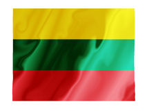 Lithuania fluttering. Fluttering image of the Lithuanian flag Royalty Free Stock Image