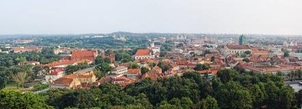 lithuania gammal panorama- townsikt vilnius Arkivfoto