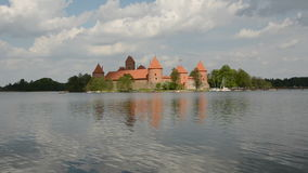 Lithuania history heart – Trakai medieval kings castle stock video