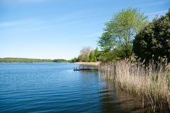 Lithuania jezioro Fotografia Royalty Free