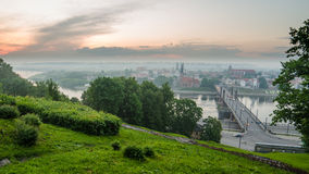 Lithuania. Kaunas Old Town in the fog Royalty Free Stock Images