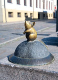 Lithuania, Klaipeda. The bronze figure of a mouse. Stock Photo