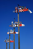 Lithuania Klaipeda colorful weather-vane Royalty Free Stock Photo