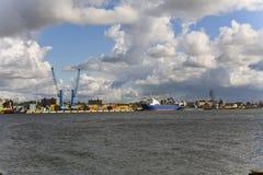 Lithuania, Klaipeda, port stock images