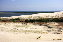 Lithuania Klaipeda sand dunes stock images