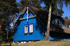 Lithuania Klaipeda typical wooden house Royalty Free Stock Photos