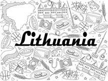 Lithuania line art design vector illustration royalty free illustration