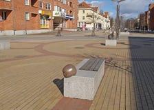 Lithuania. M. Mazhvidas Avenue Street in Klaipeda Stock Photography
