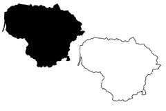 Lithuania map vector Royalty Free Stock Photography