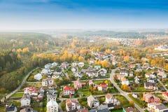 Lithuania miasto przy spadkiem Fotografia Royalty Free