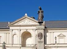 lithuania O teatro do drama de Klaipeda no quadrado do teatro imagem de stock royalty free