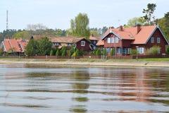 lithuania O tipo de Nida da baía de Curonian fotografia de stock