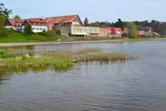 lithuania O tipo de Nida da baía de Curonian foto de stock