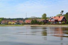 lithuania O tipo de Nida da baía de Curonian fotos de stock royalty free