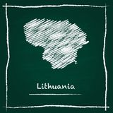 Lithuania outline vector map hand drawn  . Stock Photography
