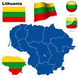 Lithuania set. Royalty Free Stock Image