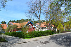 Lithuania. Spring street in Nida Royalty Free Stock Images
