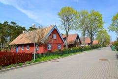 Lithuania. Spring street in Nida Stock Photos