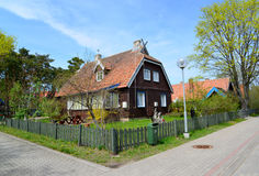 Lithuania. Spring street in Nida Royalty Free Stock Photo