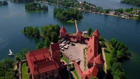 Lithuania Trakai castle on the lakes video stock video