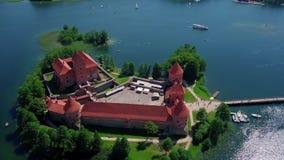 Lithuania Trakai kasztel na jeziorach wideo zdjęcie wideo