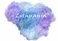 Lithuania vector map illustration Stock Photo