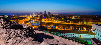 Lithuania. Vilnius in the evening. Stock Image