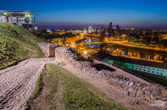 Lithuania. Vilnius in the evening. Royalty Free Stock Photography