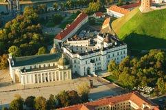 lithuania vilnius Gotisk övreslott Domkyrka och slott av de storslagna hertigarna av Litauen Royaltyfria Bilder