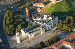 lithuania vilnius Gotisk övreslott Domkyrka och slott av de storslagna hertigarna av Litauen Fotografering för Bildbyråer