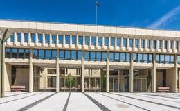 lithuania vilnius houses parlamentet Arkivbilder