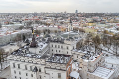 Lithuania. Vilnius Old Town. Palace of the Grand Dukes. Cathedral and belfry Royalty Free Stock Image