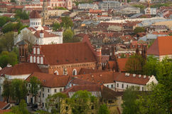 Lithuania. Vilnius Old Town in the spring Stock Photography