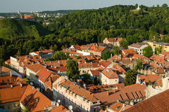 Lithuania. Vilnius Old Town in the summer Stock Photos