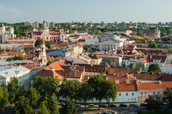 Lithuania. Vilnius Old Town in the summer Stock Images