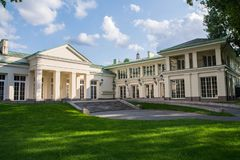 Lithuania, Vilnius 2018-08-31, Presidential palace courtyard, the official residence of the President. stock images