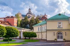 Lithuania, Vilnius 2018-08-31, Presidential palace courtyard, the official residence of the President. Lithuania, Vilnius 2018-08-31, Presidential palace stock photos