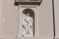 Lithuania. Vilnius. Sculpture at the Cathedral Royalty Free Stock Photography