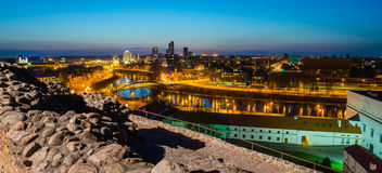 Lithuania. Vilnius. Upper Castle And View To The C Royalty Free Stock Photography