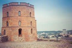 lithuania vilnius vilnius för sikt för stadsområde virsuliskes Vilnius torn av Gedimin Royaltyfria Foton